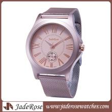 Все сплава часы для женщин мода розовый сплав часы