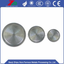 China OEM for Industrial Tantalum Diaphragm Differential tantalum flat diaphragm for pressure sensors supply to Cameroon Factory