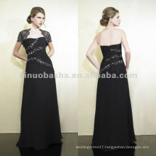 NY-1996 Re-embroidered lace poly chiffon a-line mother dress