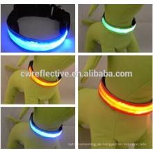 Light Up Hundehalsband / Reflektierende Hundehalsband / Reflektierende Hundeleine