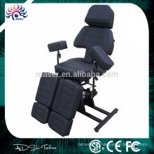 Professional Foldable Black Tattoo cadeira, cama de tatuagem para o corpo, Tattoo Furniture