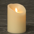 artificial Faux Flame wax luminara flameless candles with moving flame