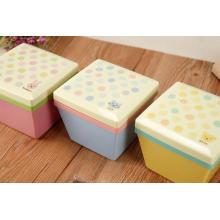 conteneur en plastique carré de boîte à lunch de bento en gros pour des enfants