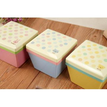 оптовые квадратные пластиковые бенто коробка для завтрака для детей