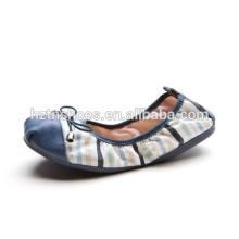 Chaussures de ballet portable chaussures de danse pliable