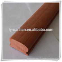 vente chaude main courante en chêne rouge meilleure vente production piliers romains