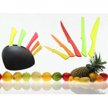 5PCS coloridos plástico Handle cozinha faca Set (SE-3560) (3560)