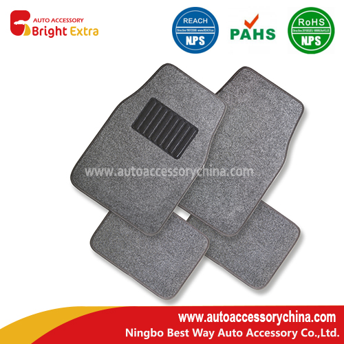 Plush carpet car floor mat