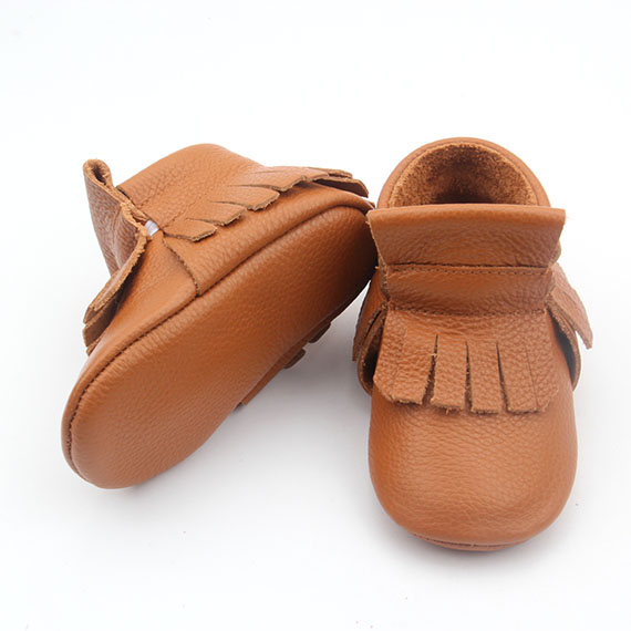 Leather Brown Baby Moccasins Baby Boots