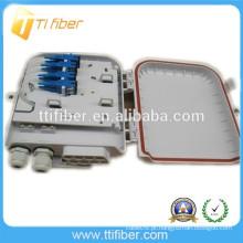 1X8 PLC com Adaptador e Conector Rápido Caixa de Distribuição de Fibra Óptica