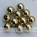 Golden/Silver Electroplated Round Vacuum Forming Loose Beads