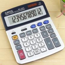 Big Size Solar Power 12 Digits Aluminum Panel Desktop Calculator