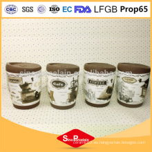 325ml Taza de café de la impresión de la etiqueta con la venda y la tapa del silicón, taza del silicón