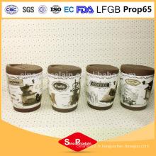 325ml Tasse à café avec une bande de silicone et un couvercle en silicone, une tasse en silicone