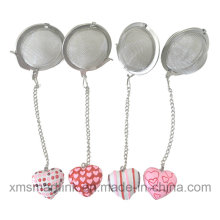 Resina Miniature Heart Decor Tea Filter