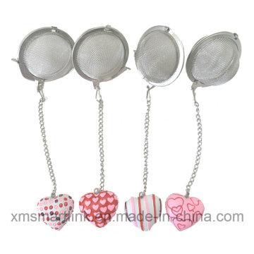 Reçine Minyatür Kalp Dekoru Çay Filtresi