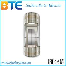 Ce 800kg Хорошее оформление панорамный лифт без машинного зала