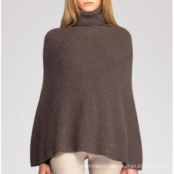 New Arrival High Neck Women Cashmere Poncho