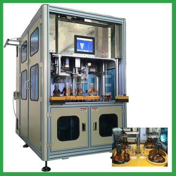 Auto stator coil winding and wedge inserting machine
