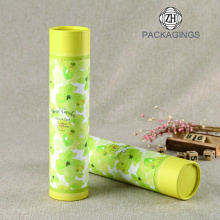 Custom+yellow+paper+tube+packaging+box