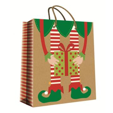 CHRISTMAS SERIES KRAFT GIFTBAG26-0