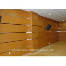 Produtos turcos Painéis de parede de madeira acústica de alta qualidade em madeira de faia