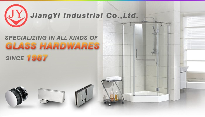Frameless 90 Degree Glass-To-Wall Shower Hinges