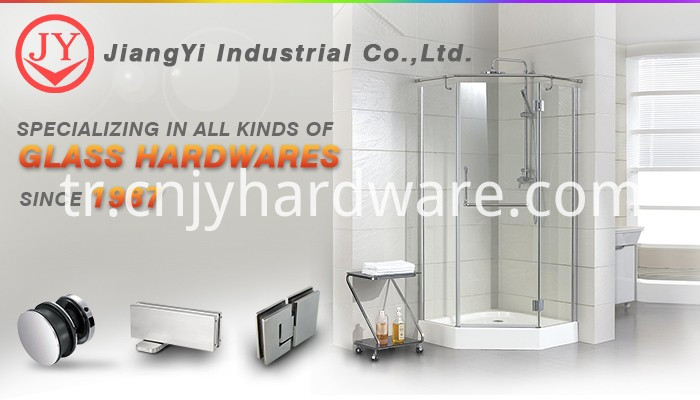 PVC frameless shower door seal