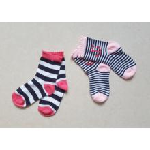 Baumwollstreifen-Entwurf 2pairs Geschenk-Verpackungs-Baby-Socken