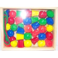 Juguetes de madera Lacing Beads in a Box