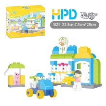Flower Shop Plastic Building Blocks Educativos Conjuntos