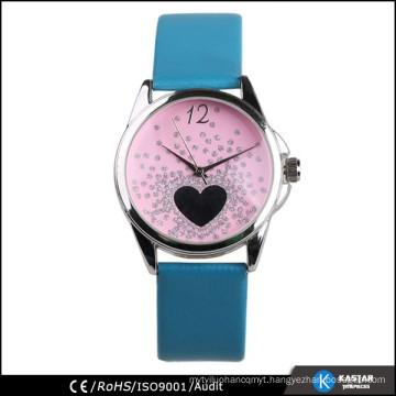 attractive design fashion girls leather watch