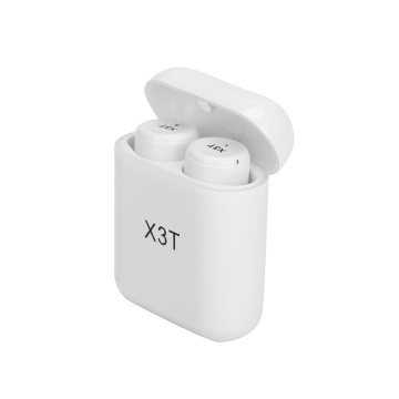 White Bluetooth Earphone X3T