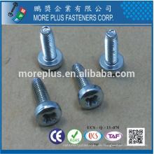 Fabricado en Taiwán Clase 4.8 DIN7985 Phillips Drive Llave de cabeza de llenado Galv.Verzinkt