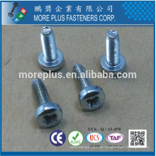 Made in Taiwan Class 4.8 DIN7985 Phillips Drive Fillister Head Machine Screw Galv.Verzinkt