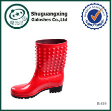 Wasser wandern Stiefel Damen Kunststoff Regenstiefel hoch... B-819