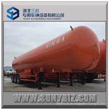 25t Drei Achsen LPG Tank Anhänger mit Sattelzugmaschine