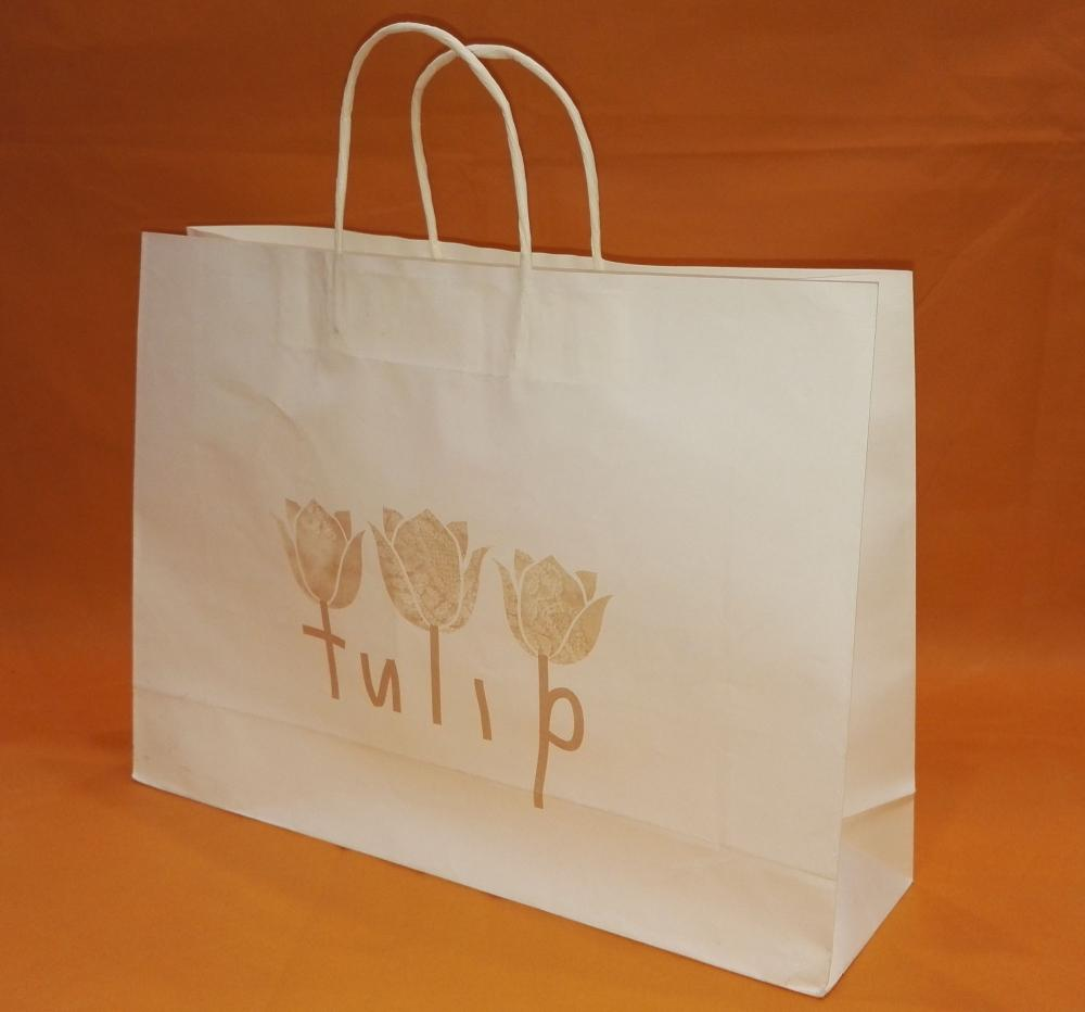 Flower Print Paper Shopping Bags