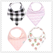 """Baby Bandana Drool Bibs for Drooling and Teething 4 Pack Gift Set For Girls """"Rosie Set"""""""