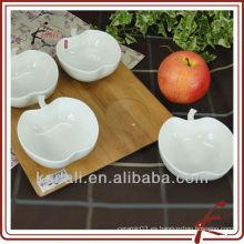 China Fábrica de cerámica blanca porcelana Snack plato de la planta de cenas Set