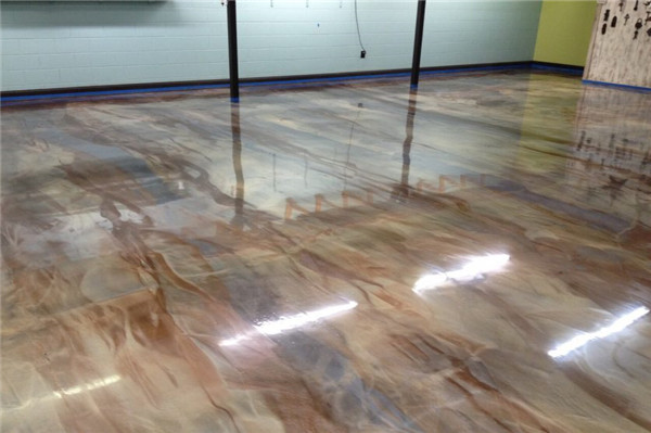metallic concrete floor