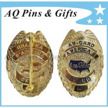 Insigne de police militaire métallique de haute qualité dans la meilleure gravure en 3D (badge-037)