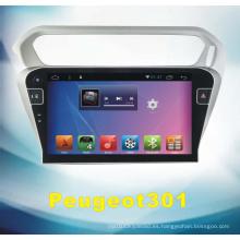 Sistema de audio del sistema de Android para Peugeot 301 con navegación de coche