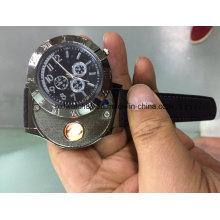 Venda quente eletrônico mais leve relógio de quartzo usb recarregável