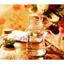 Jarra de jugo de vidrio borosilicato de diseño creativo