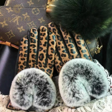 Solid reputation warm cute simple style fur gloves