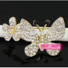 couple crystal fashionable butterfly brooch
