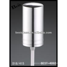 Pulverizador plástico de la bomba de la botella 18/415 con el casquillo de aluminio, aerosol cosmético de las botellas y bomba, rociador de la bomba del perfume