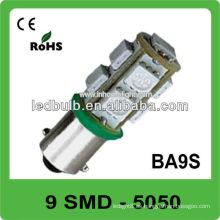 Alto brillo Ba9s 9 SMD 5050 12V luz llevada automotora