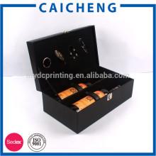 caja de madera cuadrada para vino tinto